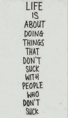 don't suck.