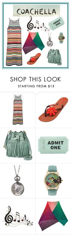 """""""Contest Coachella style"""" by maryfromnewengland ❤ liked on Polyvore featuring Zara, IPANEMA, FOSSIL, Kate Spade, Geneva, Benzara and Missoni"""