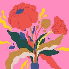 say hi to_ Sara Andreasson Plant Illustration, Pattern Illustration, Botanical Illustration, Graphic Illustration, Pop Art Wallpaper, Cartoon Sketches, Sculpture, Illustrations Posters, Art Drawings