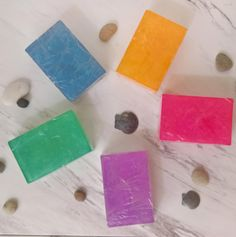 Custom Soap Gift Box Personalized Soap Set of 5 ~ Guest Soap ~ Guest Bath Soap ~ Gift Set ~ Handmade Soap ~ Rainbow Soaps ~ Soap Bundle by CoconutSpiceSkincare on Etsy