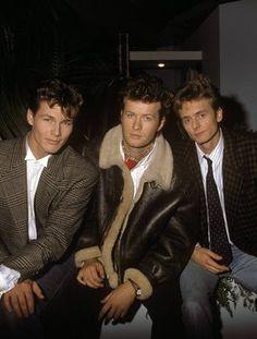 STORE IDOLER: Morten Harket, Magne Furuholmen og Paul Waaktaar-Savoy var blant 80-tallets største popband. Her avbildet i Sveits i 1987.