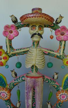 Vintage ceramic mask from santa cruz de las huertas for Mexican arts and crafts for sale