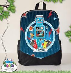 Mini Monster Truck Racer - Personalised Kids Backpack ...