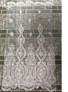 Beaded lace fabricBridal Lace FabricIvory от Jennylacefabric