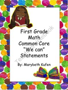 Eric Carle Inspired Common Core Objectives First Grade Math
