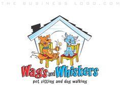 Logo Design Services, Custom Logo Design, Company Logo Samples, Cat Character, Pet Sitting, Business Logo Design, Animal Logo, Dog Walking, Pet Care