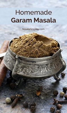 Homemade garam masala is the spice crown jewel of East Indian cuisine and absolutely makes curries SING. This spice blend uses easy-to-find ingredients & mixes up in less than 5 minutes. (spices and herbs garam masala) Homemade Spices, Homemade Seasonings, Indian Dishes, Curry Recipes, Guacamole, Food To Make, Dips, Food And Drink, Cooking Recipes