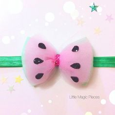 Hey, I found this really awesome Etsy listing at https://www.etsy.com/listing/232072288/watermelon-bow-headband-tutti-frutti