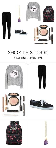 """lazy"" by cassie-myers-44 ❤ liked on Polyvore featuring H&M, Boohoo, Keds, Vans and school"