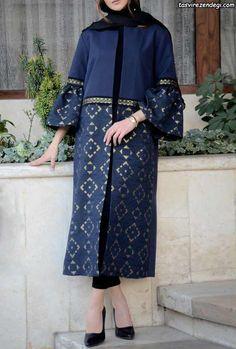 Batik Fashion, Abaya Fashion, Fashion Sewing, Muslim Fashion, Modest Fashion, Fashion Dresses, Woman Dresses, Mode Abaya, Mode Hijab