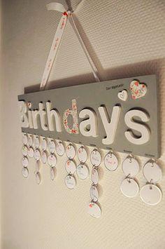 tuto calendrier d 39 anniversaire inspiration bricolage craft pinterest calendrier. Black Bedroom Furniture Sets. Home Design Ideas
