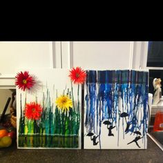Crayon project! - i like the flower one