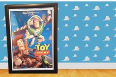 Hey, I found this really awesome Etsy listing at https://www.etsy.com/listing/178032469/disney-vintage-toy-story-poster-framed