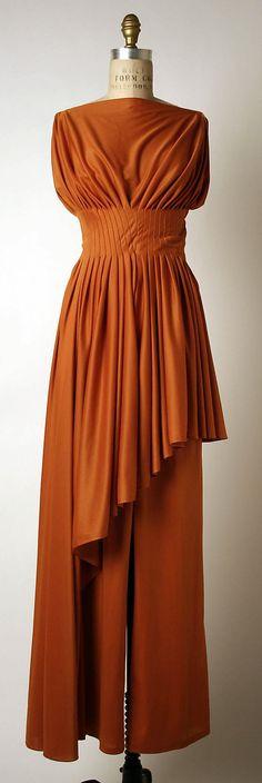 Evening pantsuit Madame Grès (Alix Barton) (French, Paris ...