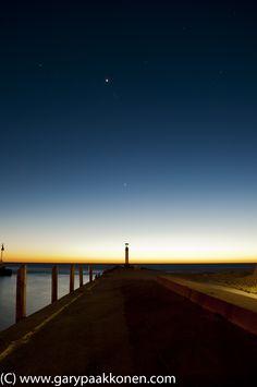Grand Bend Pier, Ontario, Canada. Blue hour shot by Gary Paakkonen