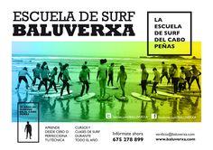 Seguimos con los cursos de surf en Baluverxa , la Escuela de Surf del Cabo Peñas , esta vez con la despedida del mes de junio 2014 con el surfing del Curso del domingo 29 junio 2014 , todo el año abierta con el mexor surfing ... http://youtu.be/DIjwwPW7zYI