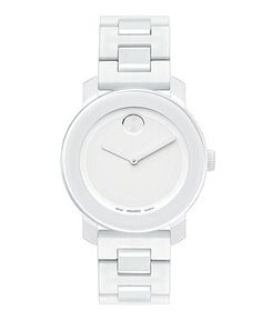 Movado Watch, Swiss Bold Medium White Silicone Bracelet 36mm 3600055 - All Watches - Jewelry & Watches - Macy's