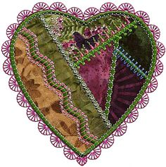 Design inspiration for a quick project - Molly Mine crazy patch heart 14.
