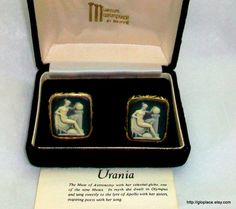 Museum Masterpieces by Dante Vintage 1950's Urania Cufflinks Signed | eBay