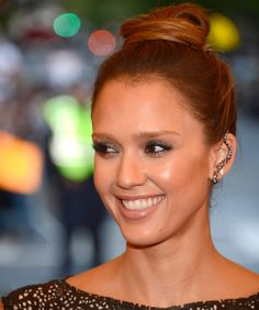 Jessica Alba wearing ear cuffs. Stop into G. Thrapp Jewelers to see our collection of ear cuffs!