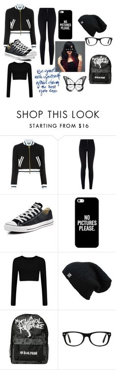 """""""Sin título #55"""" by miley11-732 on Polyvore featuring moda, Moschino, Converse, Casetify, Ray-Ban, women's clothing, women's fashion, women, female y woman"""