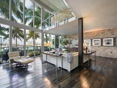 Energy Saving Style At South Pointe Modern Apartment Miami Beach Florida