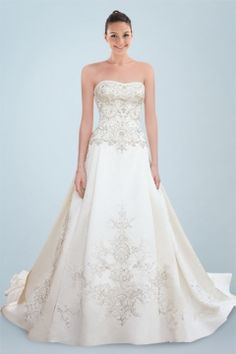 Dipped Princess Gown with Intricate Beaded Applique