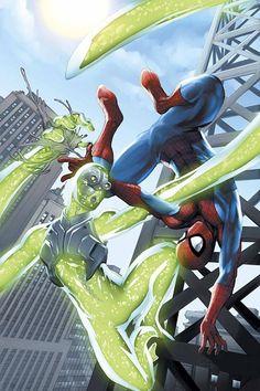 "#Spiderman #Fan #Art. (Marvel Age: Spider-Man ""The Terrible Threat of the Living Brain"" Vol.1 #7 Cover) By: Michael Ryan. ÅWESOMENESS!!!™ ÅÅÅ+"
