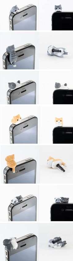 The iCat .. too bad the headphone jack is now located on the bottom of mobile. :/