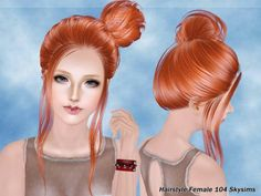 Hair -104 by Skysims at The Sims Resource - Sims 3 Finds