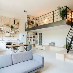Open Main Floor And Staircase - Creative Family Home Amsterdam