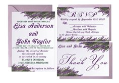Hey, I found this really awesome Etsy listing at https://www.etsy.com/listing/458461402/lavender-wedding-invites-floral-bohemian
