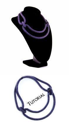PDF Beading Crochet Tutorial Pattern Necklace Seed Bead by Bichoki