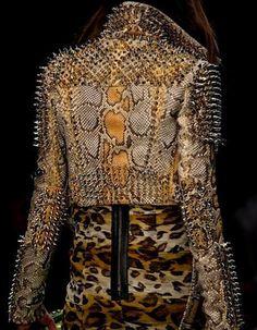 Burberry studded snake skin leather jacket. Ssssss..