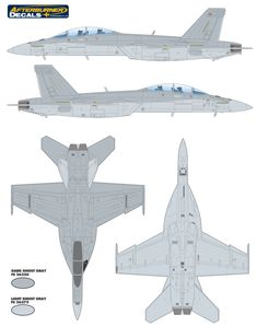 Plane Shapes, F18 Hornet, Rc Plane Plans, Paint Charts, Camouflage Colors, Air Force Aircraft, Color Profile, Parking Design, Tamiya