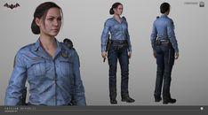 ArtStation - Arkham Knight - Female Cop, Meng Guan