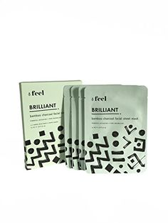 Feel Brilliant Bamboo Charcoal Facial Sheet Mask >>> You can get additional details at the image link. (Note:Amazon affiliate link)