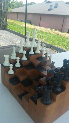 ponder 3d chess board inventions. Black Bedroom Furniture Sets. Home Design Ideas