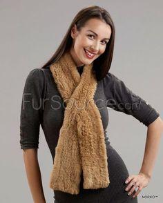 Sheared Rex Rabbit Fur Scarf - Buff Fur Scarves, Mink Jacket, Rabbit Fur Coat, Rex Rabbit, Fur Rug, Fur Blanket, Mink Fur, Fashion, Moda