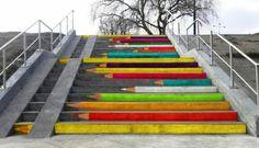 Pencil Steps, Poznan, Poland