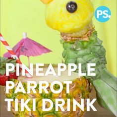 Make any drink party perfection with this fun and easy pineapple parrot. It's Summer-luau appropriate, plus something both the kids and adults will love. Carve up one (or more!) and let the good times roll!