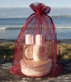 Face and Body Essentials - Cream Cleanser, Gel Toner and Body Butter - lovely idea for Christmas gifts in a reusable red organza bag :) Christmas 2015, Christmas Gifts, Cocoa Butter, Body Butter, Organza Bags, Face And Body, Cleanser, Your Skin, Essentials