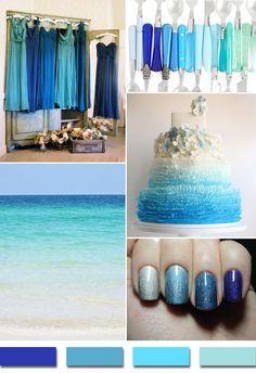 shades of blue summer wedding color ideas for 2014 http://www.finditforweddings.com beach weddings