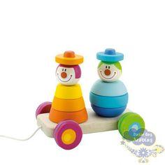 Puxando os Palhaços, Puxando os Palhaços Sevi, Brinquedos Sevi, Brinquedos Educativos, Brinquedos de Madeira, Brinquedos Importados