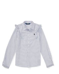 Striped Ruffled Cotton Popover - Shop All Girls 7-14 Years - Ralph Lauren France