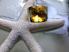 Sunflower Summer Swarovski Ring on Etsy, $20.00