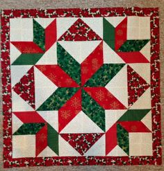 christmas wall hangings sherry e shared her awesome star quilt on quilters spotlight see show easy christmas wall hangings to make Big Block Quilts, Star Quilt Blocks, Star Quilts, Mini Quilts, Scrappy Quilts, Christmas Patchwork, Christmas Sewing, Christmas Star, Christmas Projects