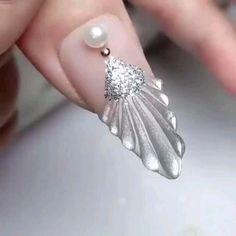Nail Art Designs Videos, Nail Art Videos, Nail Polish Designs, Nail Design, Cute Acrylic Nails, Gel Nail Art, Glam Nails, Beauty Nails, Art Deco Nails
