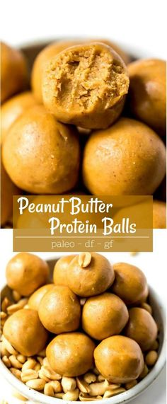 These Peanut Butter Protein Balls are quick, easy, inexpensive and perfect for when you need a little energy bite! Keep these protein bites in the refrigerator for a quick snack. This recipe is dairy Healthy Protein Snacks, Protein Bites, Healthy Cookies, Protein Foods, Healthy Food, Keto Snacks, Raw Food, High Protein Snacks On The Go, Paleo Protein Balls