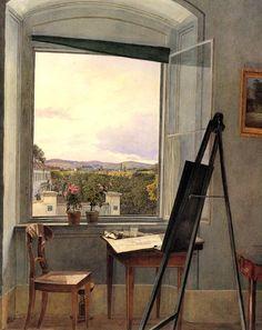 Jakob Alt - View from the studio in Alservorstadt